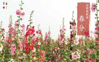 春分,春暖花開。要注意溫濕度變化,保養身體。